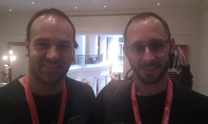 James Tait (right) with Mark Shuttleworth (left) at Corinthia Hotel Budapest.