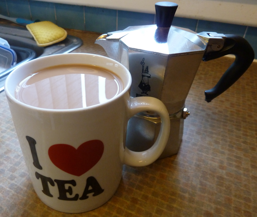 A comforting brew in the wrong cup!