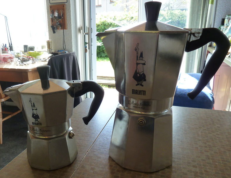 My Bialetti 3-cup and 9-cup pots