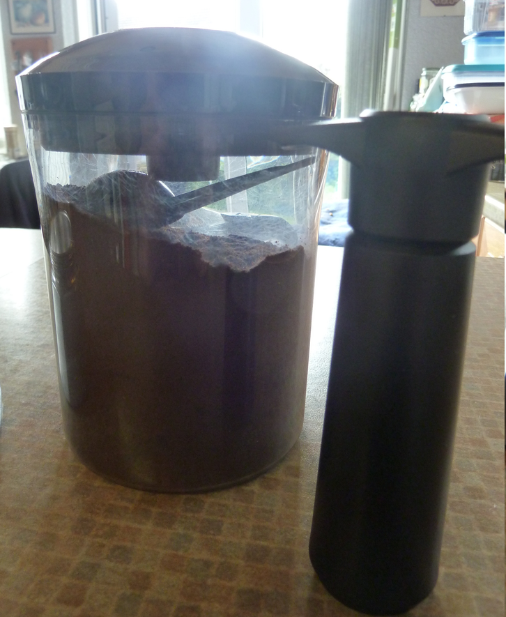 Coffee in a vacuum container