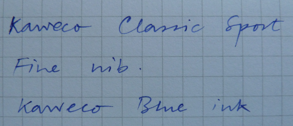 Kaweco Classic Sport writing sample