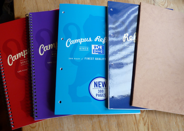 Oxford and Clairefontaine stationery