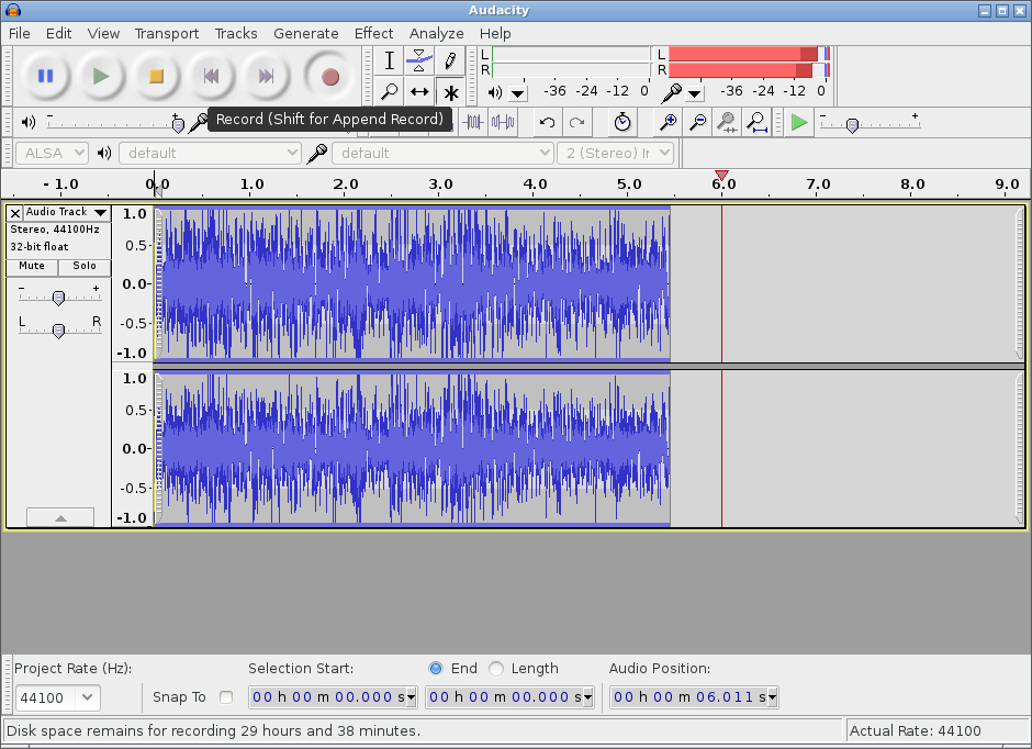 Audacity Can Record